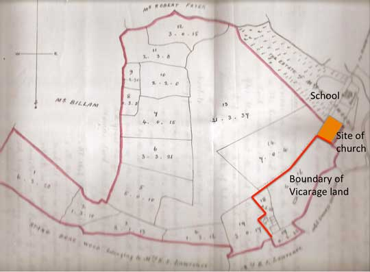 Dallowgill Vicarage Land Map